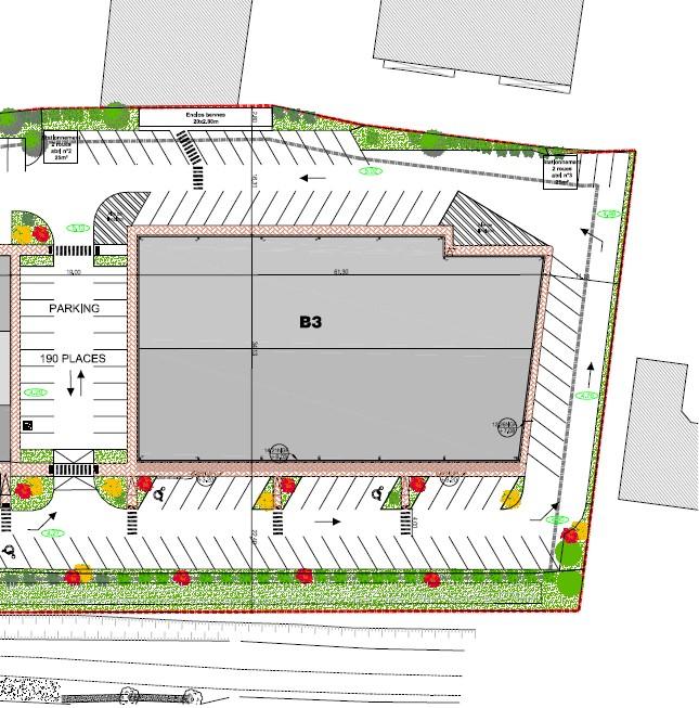 A Louer Locaux commerciaux 889 m² divisibles- Rochefort
