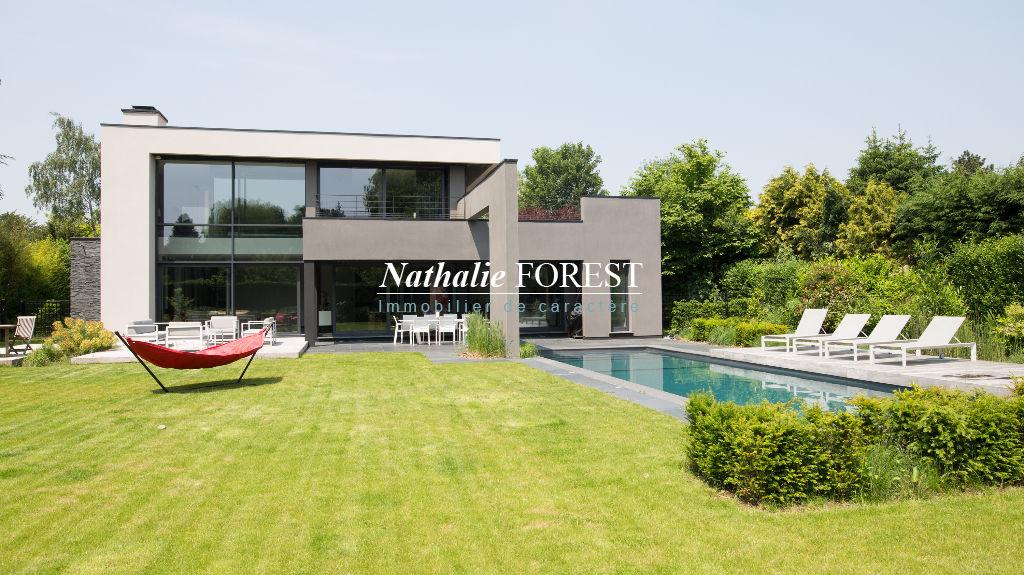 Marcq en Baroeul ,EXCLUSIVITE, Rare maison cubique , piscine extérieure sur  2270 m² de terrain .