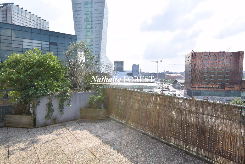 Exclusivité ! Gare Lille Europe  Appartement Penthouse 4 pièce(s) 108M2, Terrasse 26M2, Garage 1 Voiture