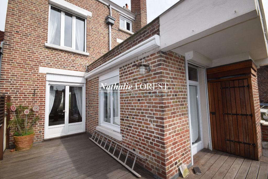 MARCQ EN BAROEUL Buisson! Maison 1930 Bel étage 7 pièce(s) 125 m2 hab (extension possible +20M2), Garage 2 Voitures, Jardin Sud