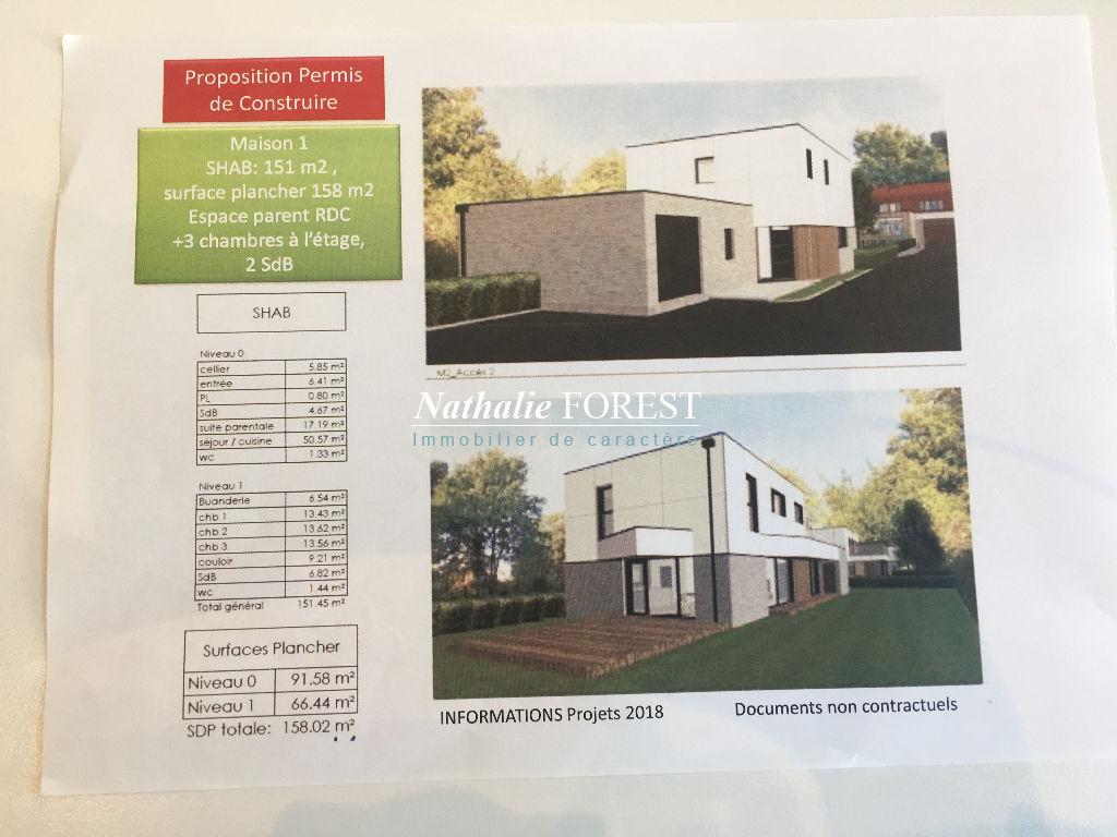CROIX Résidentiel prox Tramway  Maison Cubique en état de futur achèvement sur 560M2 de terrain sud-ouest
