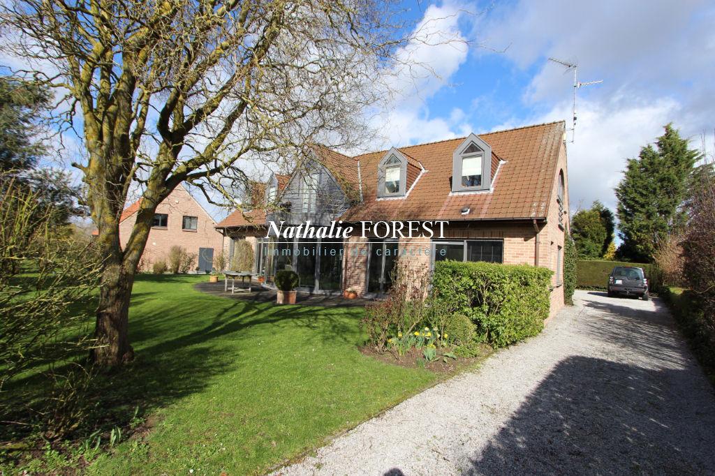 EXCLUSIVITE, GRUSON, Belle maison Dewaelle (5 ch) exposée plein sud sur une parcelle arborée de 935 m2