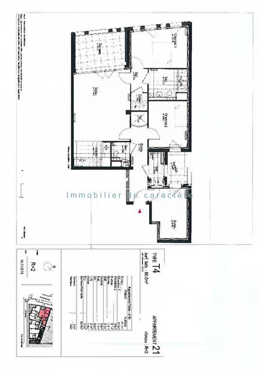 VIEUX LILLE, SPLENDIDE APPARTEMENT TYPE IV DE 80M² + TERRASSE DE 13M2 + PARKING